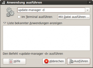 "Update-Manager mit dem Parameter ""-d"" starten"