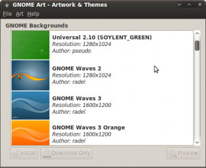 Wallpaper installieren mit Gnome-Art