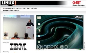 CeBIT: Videostreams bei Linux Magazin