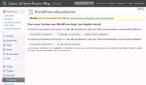 Upgrade auf WordPress 3.0