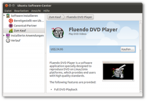 Fluendo DVD-Player zum Kaufen im Software-Center