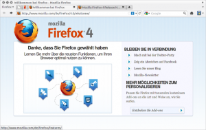 Firefox 4 unter Linux in Aktion