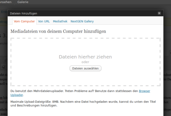 Datei-Upload per Drag & Drop